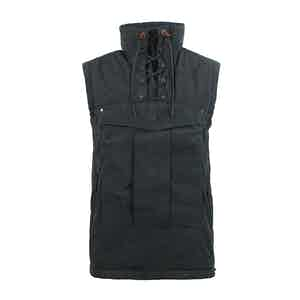 Raven Grey Touring Waxed Cotton Vest