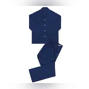 Navy Linen Pyjamas