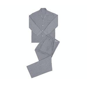 Grey Gingham Brushed Cotton Pyjamas