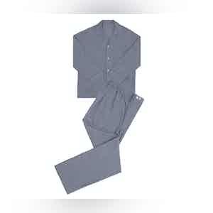 Grey Prince Of Wales Check Brushed Cotton Pyjamas