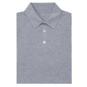 Light Grey Short Sleeve Cotton Polo Shirt