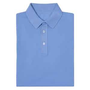 Sky Blue Short Sleeve Cotton Polo Shirt