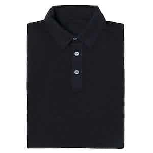 Charcoal Short Sleeve Cotton Polo Shirt