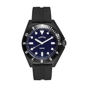 Black and Royal Blue Steel Mayfair Watch