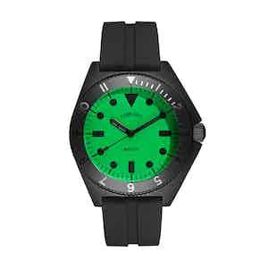 Black and Neon Green Steel Mayfair Watch