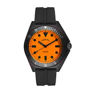 Black and Neon Orange Steel Mayfair Watch
