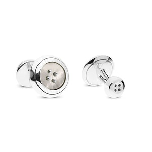 Pearl Sterling Silver and Mother of Pearl Cufflinks