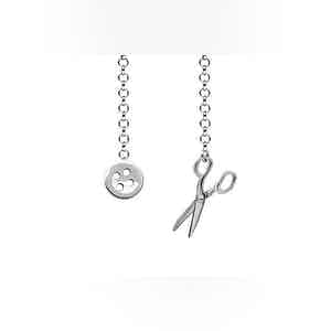 Sterling Silver Scissor Design Lapel Chain