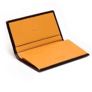Nut and London Tan Visiting Card Case, Bridle Hide Collection