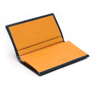 Petrol Blue and London Tan Visiting Card Case, Bridle Hide Collection