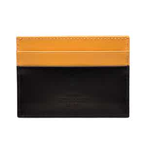 Black and London Tan Flat Credit Card Case, Bridle Hide Collection