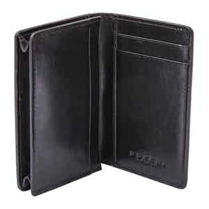 Black Leather 3-Card Holder