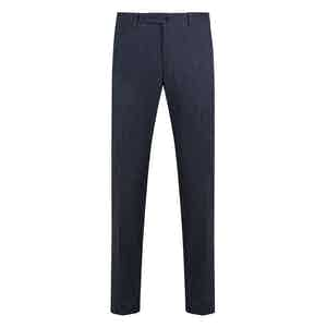 Blue Casual Fustian Cotton Trousers