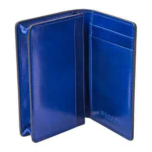 Blue Leather 3-Card Holder