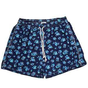 Blue Bouquet Swim Shorts