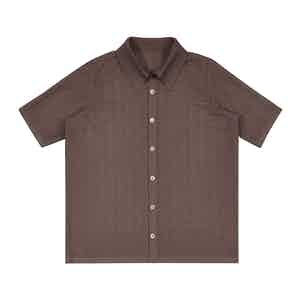 Brown Japanese Serie-Knit Shirt