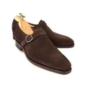 Brown Suede Monk Straps