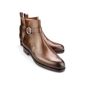 Brown Vegano Leather Jodhpur Boots