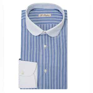 Light Blue Stripe Club Collar Shirt