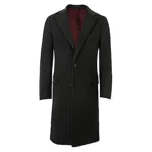 Green Single-Breasted Cashmere Coat