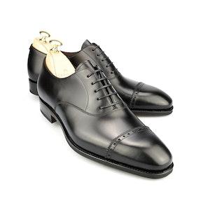 Black Leather Brogue Oxfords