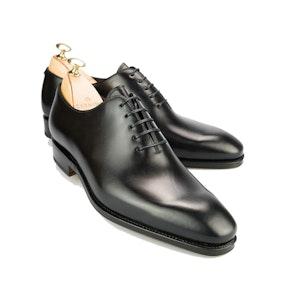 Black Leather Wholecut Oxfords
