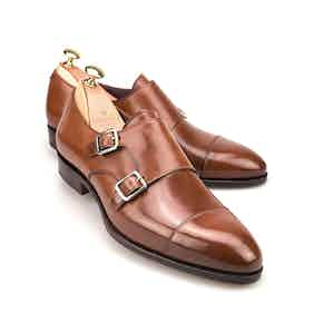 Bourbon Cordovan Leather Double Monk Straps