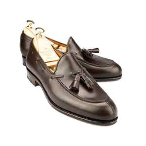 Brown Leather Tassel Loafers