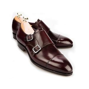 Burgundy Cordovan Leather Double Monk Straps