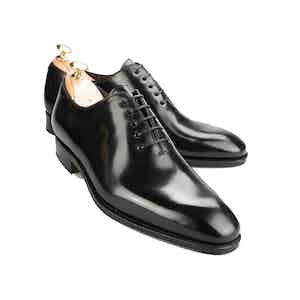 Black Wholecut Cordovan Leather Oxford Shoes
