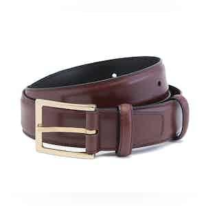 Burgundy Box Calf Leather Belt