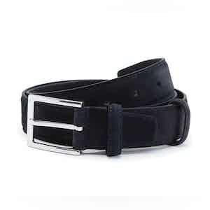 Navy Suede Leather Belt