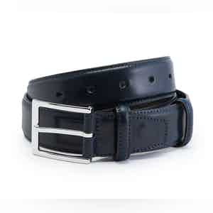 Navy Cordovan Leather Belt