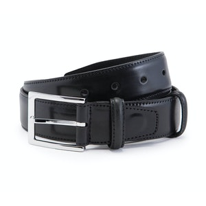 Black Cordovan Leather Belt