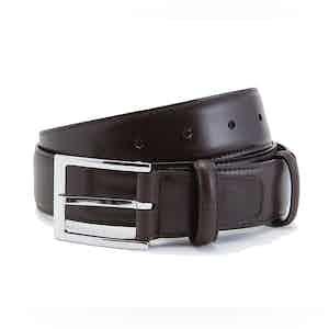 Brown Box Calf Leather Belt