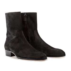 Black Cash Suede Boots