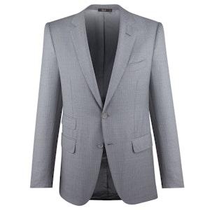 Light Grey Stripe Single-Breasted Three-Piece Suit