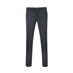 Black Straight Leg Linen Trousers