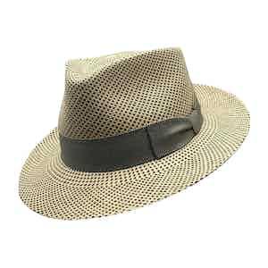 Chet Baker Beige Toquilla Palm Straw Hat