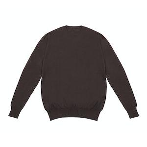 Chocolate Crew Neck Cashmere Sweater