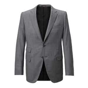 Grey Single-Breasted Two Piece Wool Suit