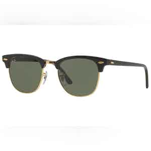 Clubmaster Classic RB3016 W0365 Gold with Green Lenses Sunglasses