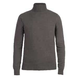 Taupe Cashmere Roll Neck