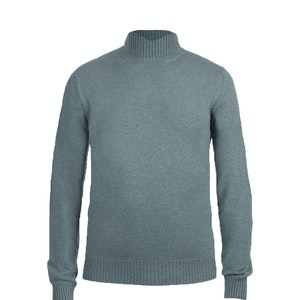 Green Cashmere Roll Neck