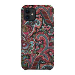 Green, Pink and Burgundy Silk Grand Tour iPhone 11 Case