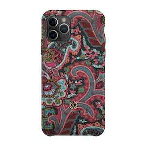 Green, Pink and Burgundy Silk Grand Tour iPhone 11 Pro Max Case