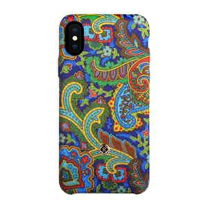Green, Yellow and Blue Silk Grand Tour Soleil iPhone X/Xs Case