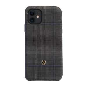 Grey and Blue Wool Prince of Wales Check Ischia iPhone 11 Case