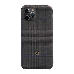Grey and Blue Wool Prince of Wales Check Ischia iPhone 11 Pro Max Case