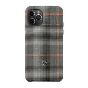 Grey and Orange Prince of Wales Check Taormina iPhone 11 Pro Max Case